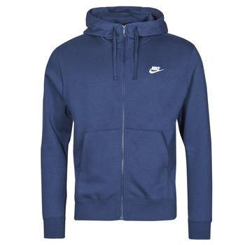 Îmbracaminte Bărbați Hanorace  Nike NIKE SPORTSWEAR CLUB FLEECE Albastru / Albastru / Alb