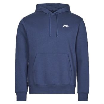 Îmbracaminte Bărbați Hanorace  Nike NIKE SPORTSWEAR CLUB FLEECE Albastru / Alb