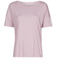 Îmbracaminte Femei Tricouri mânecă scurtă Nike NIKE YOGA Violet