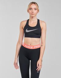Îmbracaminte Femei Bustiere sport Nike W NK DF SWSH ICNCLSH GX BRA Negru / Alb