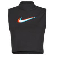 Îmbracaminte Femei Maiouri și Tricouri fără mânecă Nike W NSW TANK MOCK PRNT Negru