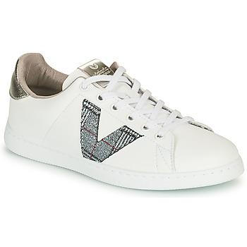 Pantofi Femei Pantofi sport Casual Victoria TENIS PIEL VEGANA Alb / Gri