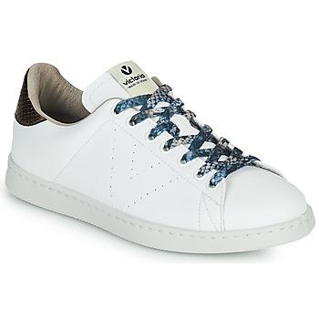 Pantofi Femei Pantofi sport Casual Victoria TENIS VEGANO SERPIENTE Alb / Bronz