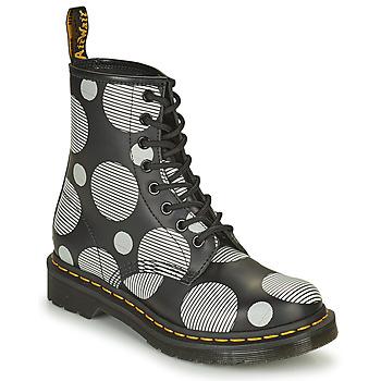 Pantofi Femei Ghete Dr Martens 1460 Alb / Gri