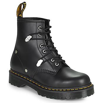Pantofi Femei Ghete Dr Martens 1460 BEX STUD Negru