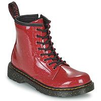 Pantofi Fete Ghete Dr Martens 1460 J Roșu