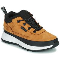 Pantofi Copii Pantofi sport stil gheata Timberland FIELD TREKKER LOW Galben-grâu