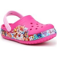 Pantofi Fete Saboti Crocs FL Paw Patrol Band Clog 205509-670 pink