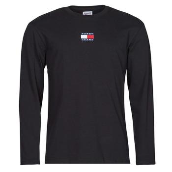 Îmbracaminte Bărbați Tricouri cu mânecă lungă  Tommy Jeans TJM LS TOMMY BADGE TEE Negru