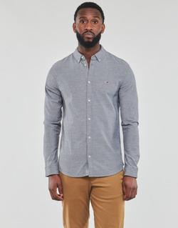 Îmbracaminte Bărbați Cămăsi mânecă lungă Tommy Jeans TJM STRETCH OXFORD SHIRT Negru