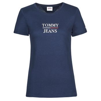Îmbracaminte Femei Tricouri mânecă scurtă Tommy Jeans TJW SKINNY ESSENTIAL TOMMY T SS Albastru