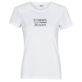 Îmbracaminte Femei Tricouri mânecă scurtă Tommy Jeans TJW SKINNY ESSENTIAL TOMMY T SS Alb