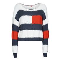 Îmbracaminte Femei Pulovere Tommy Jeans TJW  RWB STRIPE SWEATER Albastru / Alb / Roșu