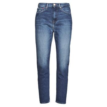 Îmbracaminte Femei Jeans drepti Tommy Jeans IZZIE HR SLIM ANKLE AE632 MBC Albastru