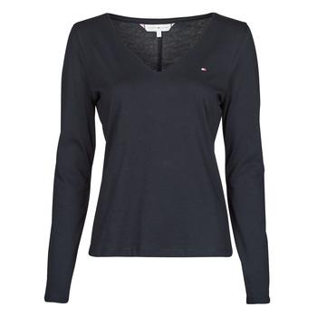 Îmbracaminte Femei Tricouri cu mânecă lungă  Tommy Hilfiger REGULAR CLASSIC V-NK TOP LS Albastru