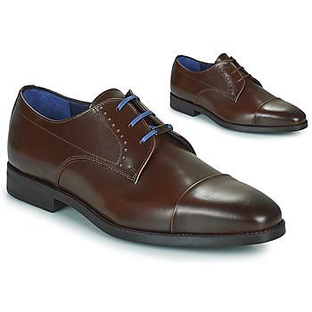 Pantofi Bărbați Pantofi Derby Azzaro GARONNE Coniac