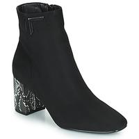 Pantofi Femei Botine The Divine Factory QL4534 Negru / Piton