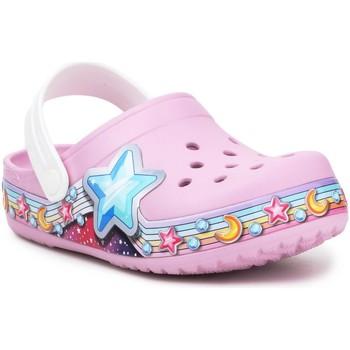 Pantofi Fete Saboti Crocs FL Star Band Clog 207075-6GD purple