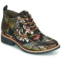 Pantofi Femei Ghete Laura Vita COCRALIEO Negru / Verde / Roz