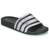 Pantofi Femei Șlapi adidas Originals ADILETTE Negru / Argintiu