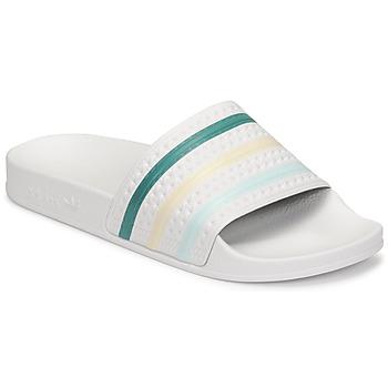 Pantofi Femei Șlapi adidas Originals ADILETTE Alb / Verde / Roz