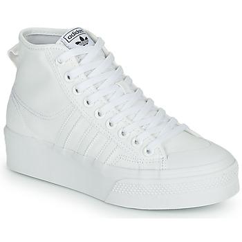 Pantofi Femei Pantofi sport stil gheata adidas Originals NIZZA PLATFORM MID Alb