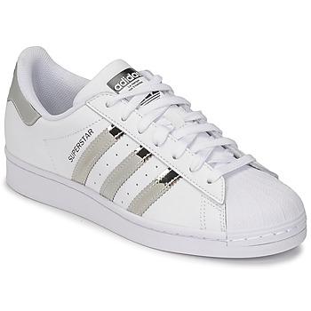 Pantofi Femei Pantofi sport Casual adidas Originals SUPERSTAR W Alb / Argintiu