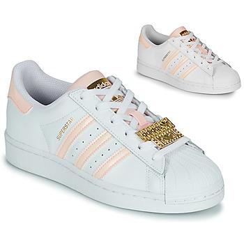 Pantofi Femei Pantofi sport Casual adidas Originals SUPERSTAR W Alb / Roz / Bijuterie