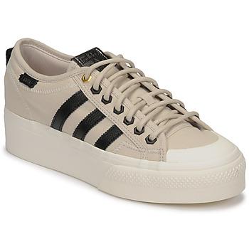 Pantofi Femei Pantofi sport Casual adidas Originals NIZZA PLATFORM W Bej / Negru