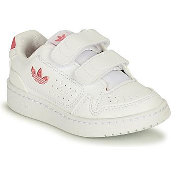 Pantofi Fete Pantofi sport Casual adidas Originals NY 90 CF I Alb / Roz