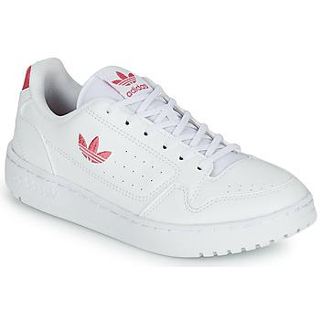 Pantofi Fete Pantofi sport Casual adidas Originals NY 90 J Alb / Roz