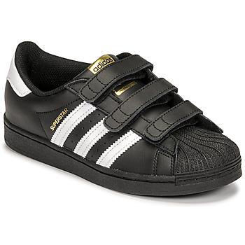 Pantofi Copii Pantofi sport Casual adidas Originals SUPERSTAR CF C Negru / Alb