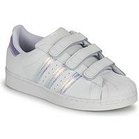 Pantofi Copii Pantofi sport Casual adidas Originals SUPERSTAR CF C Alb / Argintiu