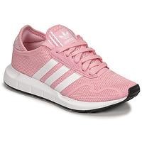 Pantofi Fete Pantofi sport Casual adidas Originals SWIFT RUN X J Roz / Alb