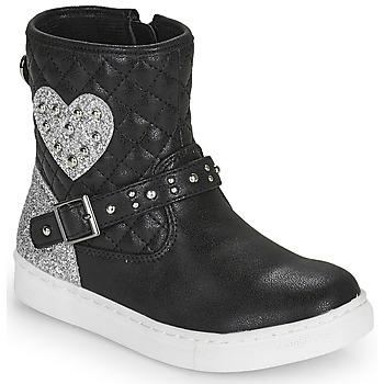 Pantofi Fete Ghete Primigi B&G LUX Negru / Argintiu