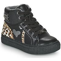 Pantofi Fete Pantofi sport stil gheata Primigi GIRL ALPHA Negru / Leopard