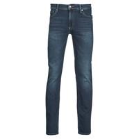 Îmbracaminte Bărbați Jeans slim Teddy Smith REEPLE ROCK Albastru / Culoare închisă