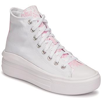 Pantofi Femei Pantofi sport stil gheata Converse CHUCK TAYLOR ALL STAR MOVE HYBRID FLORAL HI Alb