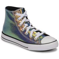 Pantofi Fete Pantofi sport stil gheata Converse CHUCK TAYLOR ALL STAR IRIDESCENT GLITTER HI Argintiu