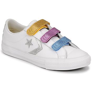 Pantofi Fete Pantofi sport Casual Converse STAR PLAYER 3V GLITTER TEXTILE OX Alb / Multicolor
