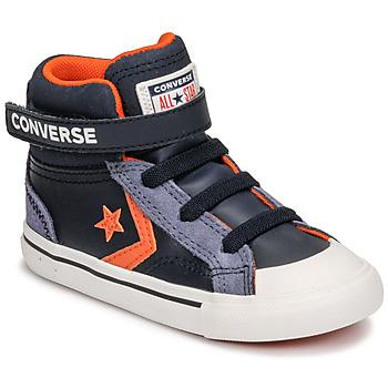 Pantofi Copii Pantofi sport stil gheata Converse PRO BLAZE STRAP LEATHER TWIST HI Albastru