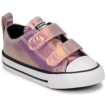 Pantofi Fete Pantofi sport Casual Converse CHUCK TAYLOR ALL STAR 2V IRIDESCENT GLITTER OX Roz