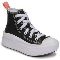 Pantofi Fete Pantofi sport stil gheata Converse CHUCK TAYLOR ALL STAR MOVE CANVAS HI Negru / Roz