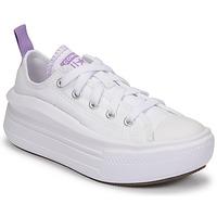 Pantofi Fete Pantofi sport Casual Converse CHUCK TAYLOR ALL STAR MOVE CANVAS OX Alb / Roz