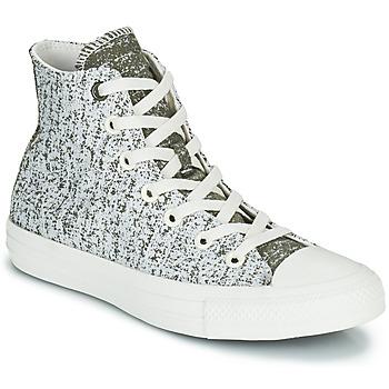 Pantofi Femei Pantofi sport stil gheata Converse CHUCK TAYLOR ALL STAR HYBRID TEXTURE HI Gri