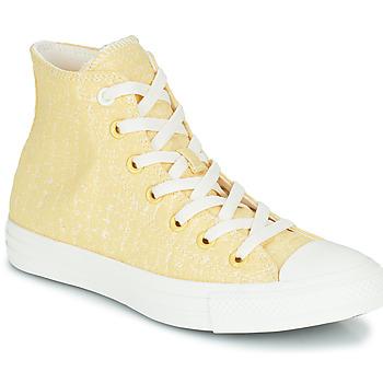 Pantofi Femei Pantofi sport stil gheata Converse CHUCK TAYLOR ALL STAR HYBRID TEXTURE HI Galben