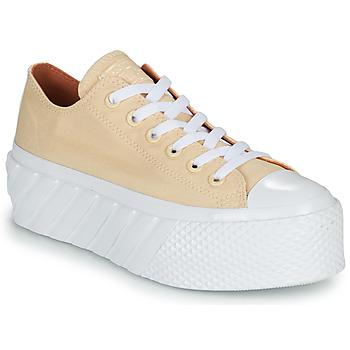 Pantofi Femei Pantofi sport Casual Converse CHUCK TAYLOR ALL STAR LIFT 2X HYBRID SHINE OX Galben