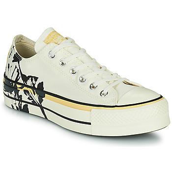 Pantofi Femei Pantofi sport Casual Converse CHUCK TAYLOR ALL STAR LIFT HYBRID FLORAL OX Alb