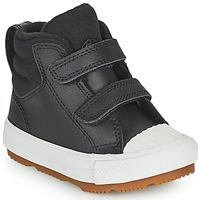 Pantofi Copii Pantofi sport stil gheata Converse CHUCK TAYLOR ALL STAR BERKSHIRE BOOT SEASONAL LEATHER HI Negru