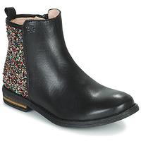 Pantofi Fete Ghete Acebo's 9917VE-NEGRO-T Negru